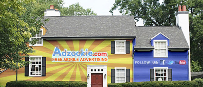 In exchange for mortgage payments, consumers' homes painted with ads  If consumers are willing to accept advertising on their cars, in their personal lives and on their social web pages,  then why not their homes as well? That, indeed, is essentially the  premise behind a new initiative from California-based mobile ad startup Adzookie, which just this week launched an effort to turn homes into giant advertising billboards. READ MORE…