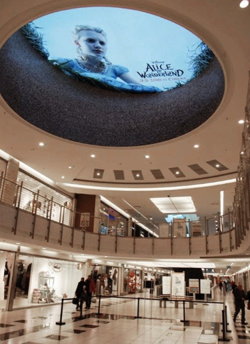"szymon:  Ambient-installation done in a Mall, in Rome. For the launch of the movie: ""Alice in Wonderland"""