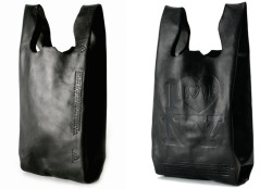 the 'corner store' bag collection by cast of vicesthe 'corner store' bag collection by LA-based jewelry designers cast of vices offers an upscale interpretation of everyday plastic bags. all pieces in the line are composed of lambskin leather and are hand sewn and hand embossed. their designs, however, are replicas of four plastic bag faces found in corner stores, shop stalls, and takeout restaurants throughout new york. more images