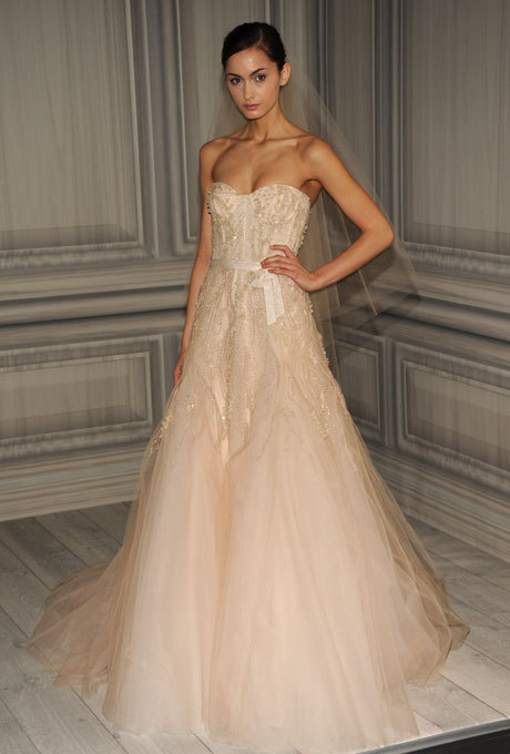 bride2be:monique lhuillier spring 2012 bridal collection Ugh, any gents want to marry me just for the party and the dressing up? Also, benefits, like I will make bacon anytime you want. Oh, and I give really great hugs.