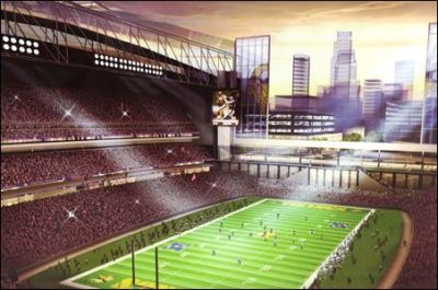 "boomd:  minnpost:  Vikings stadium bill: the good, the bad, the ugly — a close look at its details Amid the more important budget-focused conference committees set to kick off this week at the Capitol, Senate File 1164 will take center stage. It's the Vikings stadium bill — one that Gov. Mark Dayton and others are calling a ""good start."" We beg to differ.  Someone please tell me why a football stadium in Minnesota would be open air. Help me understand.   Probably for the same reason the Republicans are OK with tax increases for a stadium, but not for anything else? Especially when our state has a $5 billion budget deficit.  Wouldn't it be amusing if the state goes through the effort to pass a stadium bill this year and the NFL doesn't even play next season because of a walkout? Here's hoping."