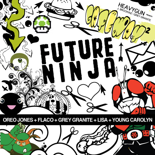 greygathers:  J. Brookinz - Future Ninja ft Oreo Jones, Flaco, Grey Granite, Lisa Berlin, and Young Carolyn by Heavy Gun 2011  New from the good folks at @HeavyGunBlog! 4.15.11 —-> #GATEWAY2.  GO #NAPTOWN. RR