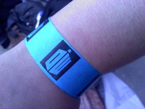 ryeisenberg:  Got our wristbands!