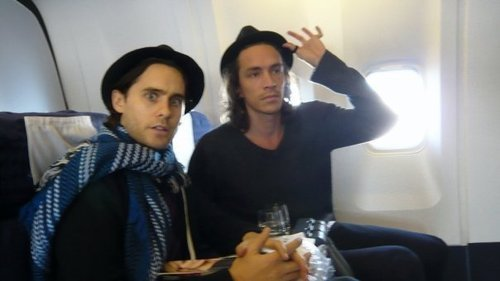 awesomepeoplehangingouttogether:  Jared Leto and Brandon Boyd.  Okay, Awesome People Hanging Out Together. I really like this as a concept, and I've enjoyed many of your photographs, but I'm really going to have to enforce the subjective nature of the adjective here. And I'm an Incubus fan.