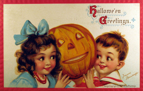 who-killed-marilyn:  Halloween old cards-Art by Frances Brundage,1910