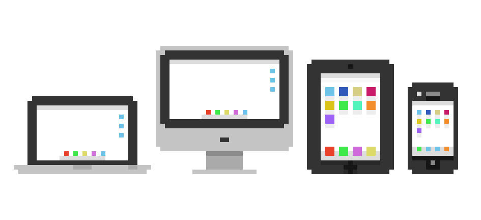 some icons i made for my portfolio. (resize the browser window to see them appear)