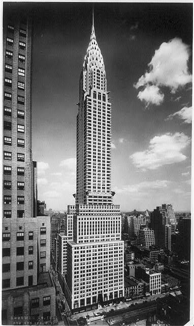 decoarchitecture:  Chrysler Building, NYC, New YorkVintage Photo via melsarthistorynotes Wonderful, sharp vertical shot. melsarthistorynotes:  William Van Alen, Chrysler Building, New York, 1928-30