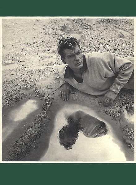"Jean Marais in the Jean Cocteau's movie: Orphée, 1949 Photo from the same series than the one used by The Smiths for the: ""This charming man"" single cover (1983). Scanned from my personal archives and composed with a (The Queen is dead) green margin. Olivier Daaram 04/2011"