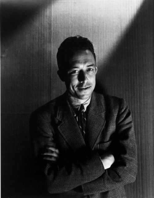 "Albert Camus (French pronunciation: [albɛʁ kamy]  (listen); 7 November 1913 – 4 January 1960) was a French Algerian author, journalist, and key philosopher of the 20th-century. In 1949, Camus founded the Group for International  Liaisons within the Revolutionary Union Movement, which was opposed to  some tendencies of the Surrealist movement of André Breton. Camus was awarded the 1957 Nobel Prize for Literature ""for his important literary production, which with clear-sighted  earnestness illuminates the problems of the human conscience in our  times"". He was the second-youngest recipient of the Nobel Prize in Literature, after Rudyard Kipling, and the first African-born writer to receive the award. He is the shortest-lived of any Nobel literature laureate to date,  having died in an automobile accident just over two years after  receiving the award. Although often cited as a proponent of existentialism, the philosophy with which Camus was associated during his own lifetime, he rejected this particular label. In an interview in 1945, Camus rejected any ideological associations: ""No, I am not an existentialist. Sartre and I are always surprised to see our names linked…"" Specifically, his views contributed to the rise of the philosophy known as absurdism. He wrote in his essay ""The Rebel"" that his whole life was devoted to opposing the philosophy of nihilism while still delving deeply into individual freedom. Albert Camus on In Our Time at the BBC. (listen now) Many books of Albert Camus available, in French, in Les Classiques des sciences sociales. Albert Camus' Week: Excerpts, articles, interviews and videos on the website of the Prague Writers' Festival ""Accidental Friends"" the story of the Camus-Sartre friendship and very public breakup Interview with daughter Catherine – 3AM Another interview with daughter Catherine – Spike The Logic of Existential Meaning Université McGill: le roman selon les romanciers (French) Inventory and analysis of Albert Camus' non-novelistic writings Lesjustes.co.uk : English synopsis of ""Les Justes"" for students Camus 'Bookweb' on literary website The Ledge, with suggestions for further reading. Camus Interview with Prof. Jean-Marie Apostolides, from the radio program Entitled Opinions Works by Albert Camus on Open Library at the Internet Archive (French) Pierre Michel, Albert Camus et Octave MirbeauPDF (640 KB)"
