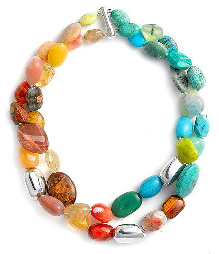 Want: Simon Sebbag Double Strand Semiprecious Necklace