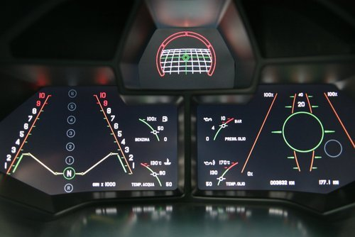 petervidani:  Dashboard of the Lamborghini Reventon.