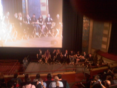 The Doctor Who cast, Steven Moffat, and the producers at the series 6 premiere in NYC!