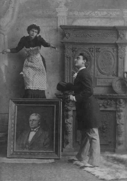 yourhost:   ( minnie tittell & seymour g. hess in costume. 1891. ) via