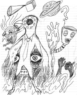 I drew this at 5 a.m. I call it drug world