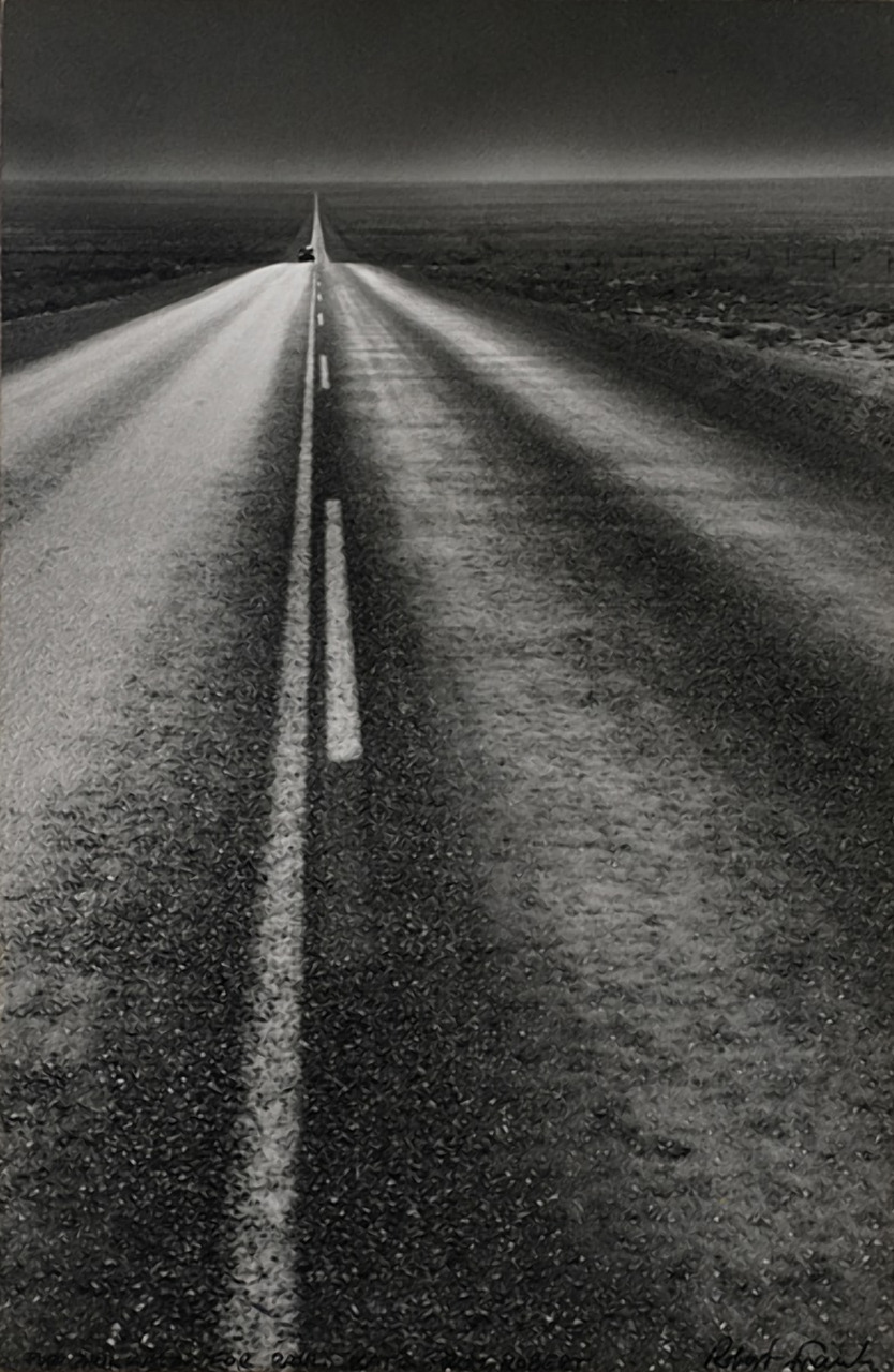 On the road to find out. Robert Frank, U.S. 285, New Mexico, 1955 Thank you, luzfosca & undr