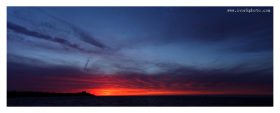 Panorama of the sunset sky on 4/11/11.