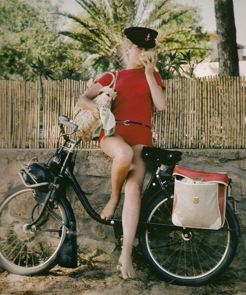 Catherine Deneuve, St. Tropez, 1965. Photographed by Milton H. Greene.
