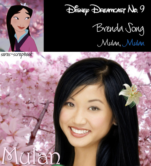 Disney Dreamcast No. 9 - Brenda Song as Mulan (made by me)