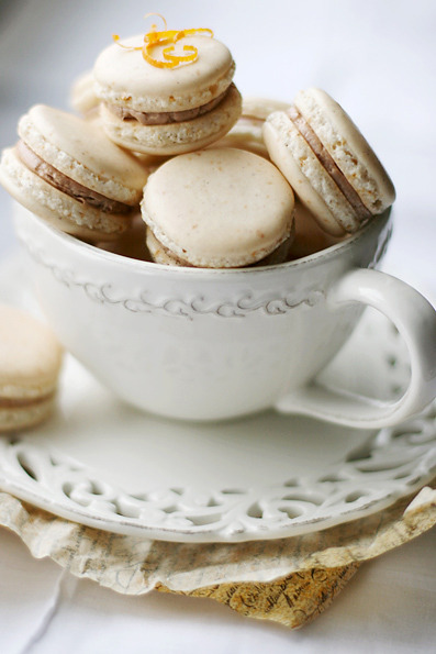 a-ladys-findings:  Orange Clove Chocolate Macarons: Recipe