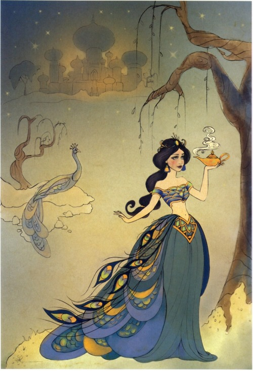 airyairyquitecontrary:  From The Art of the Disney Princess - an absolutely gorgeous, Mughal-influenced (is Mughal the word I want?) Jasmine.