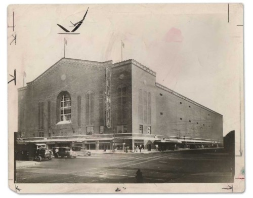 Photo of the newly opened Olympia Stadium.  1927 Playoffs! Go Wings!