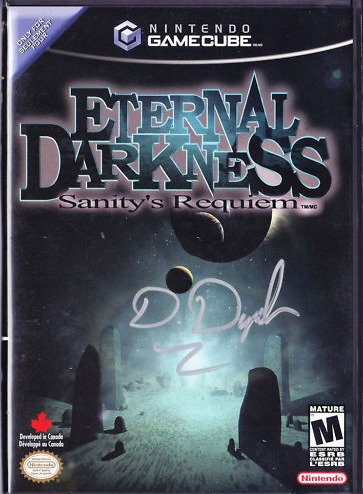 Auction: Eternal Darkness signed by Denis DyackShacknews editor Xav de Matos just offered up an autographed copy of the GameCube classic Eternal Darkness, signed by Silicon Knights' own Denis Dyack.This auction is for a pristine copy of Eternal Darkness: Sanity's Requiem for the GameCube, signed by Silicon Knights boss and well-known industry professional Denis Dyack.This auction closes April 16th at 22:29:49 PDT. All proceeds from this auction benefit the American Red Cross.
