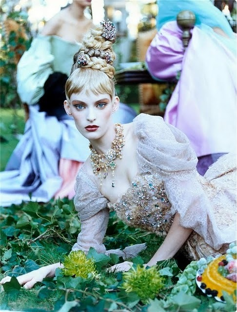 A Feast For The Eyes by Steven Meisel Dec. 1996 for Vogue US