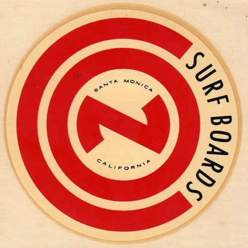 1960s Con Surfboards Decal