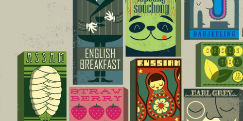 via thedieline.com - illustrated tea packaging