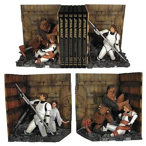 Genial. geek-art: Geek-Art.net : Abduzeedo presented this awesome bookend statue… DO WANT.