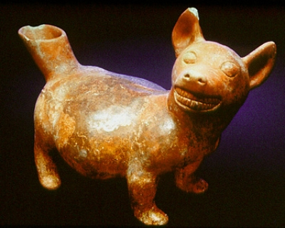 centuriespast:    Dog Vessel Colima Place found: Colima, MexicoAD 100-500ceramic Orlando Museum of Art