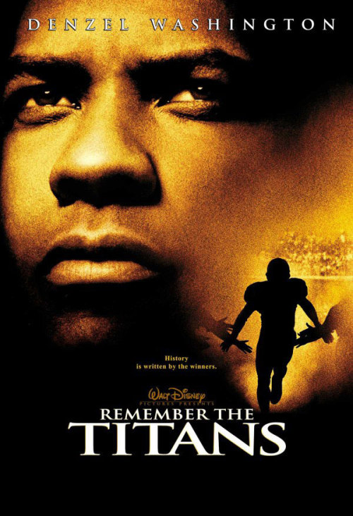If you watch Remember the Titans Backwards, its about a football coach who segregates his football team after they win the championship.