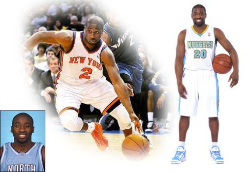 "Raymond Felton: A little bit about the new guy! Born: June 26th, 1984 in Marion, South Carolina Height: 6 ft 1 in Weight: 205 lbs NBA Draft: 5th pick in 2005 NBA draft by the Charlotte Bobcats Years Pro: 5 Number: 20 College: North Carolina (2002-2005) Position: Point Guard Raymond Felton was born on June 26th, 1984 in Marion, South Carolina. He attended Latta High School in South Carolina where he was able to lead his team to two state championships. During his junior and senior years, Felton won the South Carolina Mr. Basketball award and was awarded the Naismith Prep Player of the Year Award. Along with these awards, he was also the MVP of the Roundball Classic (2002) and was part of the 2002 McDonald's All-American team. Although if you didn't think Felton was busy enough with basketball, he also played baseball, ran track, played football while maintaining his place on the High School All-State Academic Team.  After being a busy and successful student/player in high school, Raymond Felton had no intentions to slow down. He soon became a Tarheel at the University of North Carolina Chapel Hill. (note: UNC is like Harvard for students, it's the place to be if you're a great basketball player with incredible talent! UNC also has a major reputation for basketball and of course we ALL know that Michael Jordan played here…so basically it is a bad ass school!). During Felton's freshman year, he received the Carolina Player of the Year. During his sophomore year, he received the Naismith College Player of the Year Award and he was a finalist for the Bob Cousy Award (which is another bad ass award given to the BEST college point guards in the country). During Felton's Junior Year at UNC (his last), he helped lead his Tarheels to the 2005 National Championship! Along with this championship, Felton averaged of 12.9 points a game and had 6.9 assists per game. Because he had a breakthrough junior year, he received the Bob Cousy Award and was voted to the All-ACC First Team. At this point in college, Felton had to choose between staying and finishing his college career or enter the NBA draft. This was a clear and easy choice to make for any high-profile college basketball player who wins a NCAA Championship… ENTER THE NBA DRAFT why of course!  Felton was the 5th overall pick in the 2005 NBA Draft; he was drafted by the Charlotte Bobcats. He averaged 11.9 points/3.3 rebounds/5.6 assists during his rookie season and he was voted to the All-NBA Rookie Second Team. Over the past few years, Felton has earned more playing time and is currently ranked #7 in the NBA for Assists and Steals per game. After playing for the Charlotte Bobcats for 3 years, Felton became a free-agent on July 1st, 2010. He was traded to the New York Knicks, where he was able to re-energize his NBA career (note: New York Knicks weren't too happy when he was traded to the Nuggets, he was having one heck of a season…and is still reinventing himself as one of the best point guards in the League!). Felton was a co-captain, alongside Amare Stoudemire, for the New York Knicks. Most recently, Felton was traded to the Denver Nuggets (which of course sent Carmelo Anthony and Chauncey Billups to the Knicks). So far, Felton has given the Nuggets a huge BOOST! Even though he is not the starting point guard (Ty Lawson still maintains the starting position), he comes off the bench with intensity and aggressiveness. I can't wait to see what Felton has in store for Denver!! I've never been this excited about the Denver Nuggets as I am now! Thank you New York for giving us your players, they have definitely revitalized our team!! Quote I like from an interview of his:  Raymond Felton: ""I would describe my game as a greedy person…I'm a hard worker… I'm a competitor…I'm gonna bring it every night…I'm a guy that will do anything to win.""   Sources:  http://www.raymondfelton.com/ssp/bioes http://www.nba.com/playerfile/raymond_felton/bio.html"