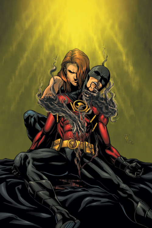 Red Robin loses to person unknown on the cover to Red Robin #24 from DC.