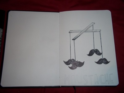 doodling some moustaches!