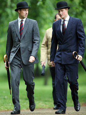 Diana's Boys: Prince William and his best man, Prince Harry, all grown up