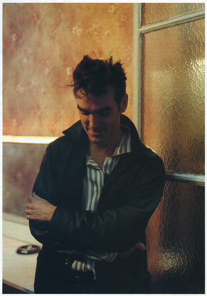 "Morrissey from: The Smiths. From the French magazine called: ""Best"" n°200, 03/1985. Photo: Jean Yves Legras Scanned from my personal archives, Olivier Daaram 04/2011"