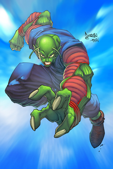 scorp48:  PICCOLO  dbZ by *deffectx