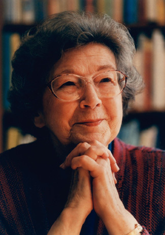 "Beverly Cleary. Serious Badass.  Happy Birthday Beverly Cleary on the occasion of her 95th Birthday!  Her books ""Henry Huggins,"" ""Henry and Beezus,"" ""Otis Spofford,"" ""Henry and Ribsy,"" and ""Beezus and Ramona"" were just hilariously great books that inspired me to read more during my earliest reading days. I can remember as clear as day laughing out loud reading those books in my childhood home on Ralston Avenue. Thank you! Thank you! Thank you!"