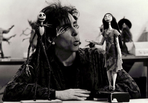 suicideblonde:  Tim Burton during the filming of A Nightmare Before Christmas, 1993