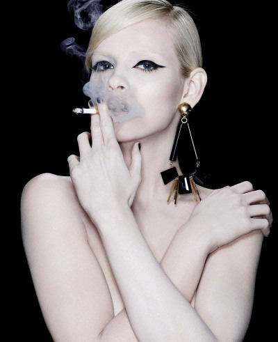Ginta, killin' it. Except the cigarette. That's bad.  via Fashion Gone Rogue.