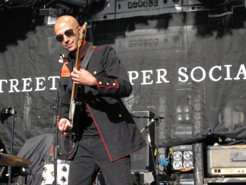 "jessicasarahs:  Tom Morello - Street Sweeper Social Club - May 2009  ""We're more than a band, we're a social club!"""
