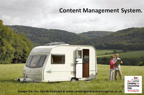 Targeting stressed out city dwellers who wouldn't think of camping as a holiday by using business speak buzz words.