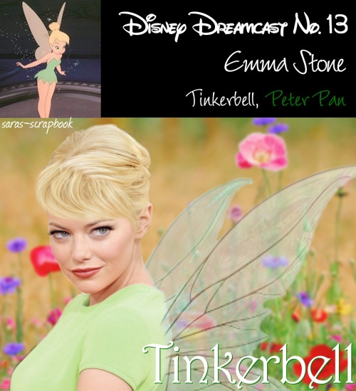 Disney Dreamcast No. 13 - Emma Stone as Tinkerbell (made by me)