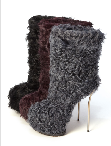 Bally makes monster boots for the Big Foot in us all!  (This has inspired me to find some shoes to take apart and cover in fake fur)