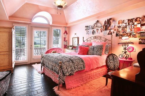Tagged Pink Rose Girly Bedroom