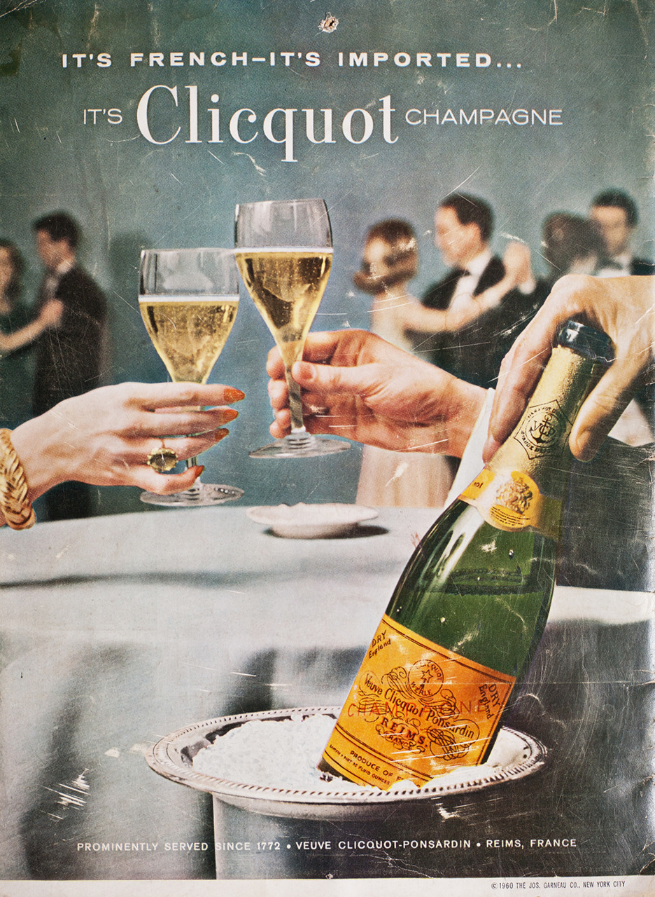Veuve Clicquot Advertisement - Gourmet: April 1963