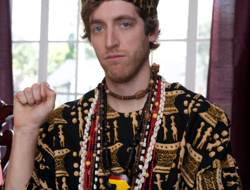 The one and only @middleditch as Matumbo's tribesmate White Rhino. #MatumboGoldberg