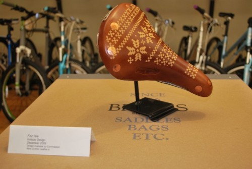 YES. Custom Brooks saddle. I <3 Kara Ginther.