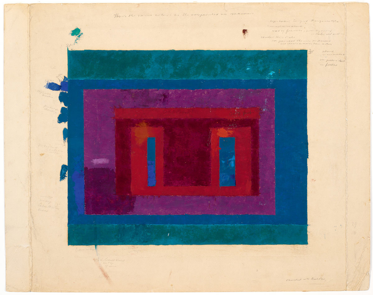 Josef Albers-colour study for a variant nd